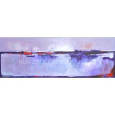 Vízparti alkony (tájkép festmény)