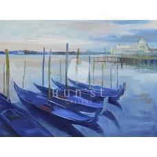 Reggel Velencében (tájkép festmény)