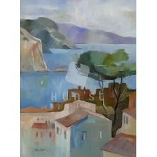 Costa Brava (tájkép festmény)