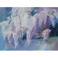 Lila akác (csendélet festmény)