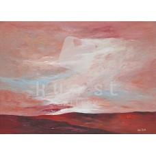 Vörös hajnal (tájkép festmény)
