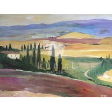 Mediterrán táj 04 (tájkép festmény)