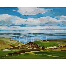 Genezáreti tó (tájkép festmény)
