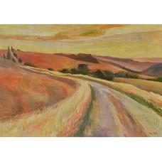 Az út (tájkép festmény)